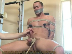 Picture Jock Bound And Edged At Gym