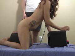Picture She gets spanked and anal plugged on Sybian...