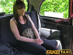 Picture FakeTaxi Brunette stunner gets naked and fuc...