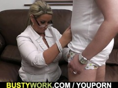 Picture Plump women at work spreads legs for big dic