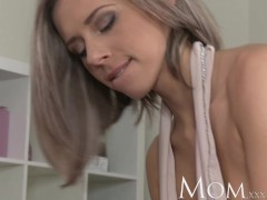 Picture MOM Blonde milf enjoys a slow blowjob before...