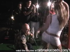 Picture Real home video of a wet tshirt contest duri...