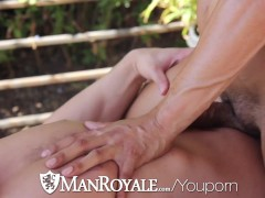 Picture Bobby Hart sits on Alex Grahams hard cock ou...
