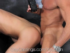 Picture Hunter Pages fucked at first gay porn auditi...