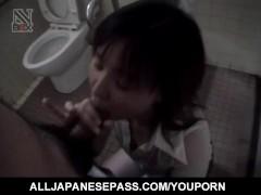 Picture Shiori Kamiya sucks cock at toilet till gets...