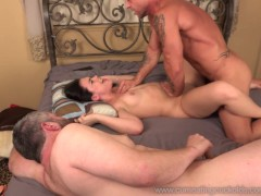 Picture Wife Receives a Pounding While Husband Watch...