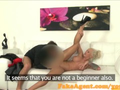 Picture FakeAgent Horny blonde model fucks for a job...