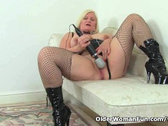 Picture English granny Lacey Starr using her magic w...