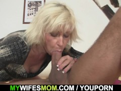 Picture Blonde mother girlfriend takes it from behin