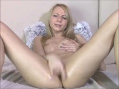 Picture Intense masturbation from a pretty blond