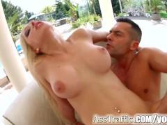 Picture Super hot blondie Melanie Gold gets anal on...