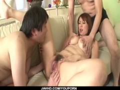 Picture Araki Hitomi deals younger males in superb t...