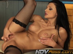 Picture Busty Brunette Aletta Ocean Solo Session