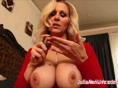 Picture Busty Milf Julia Ann Teases Stepson with Big...