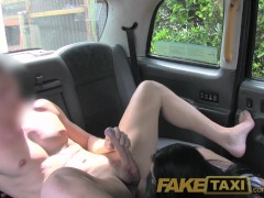 Picture FakeTaxi Brunette likes to workout on cock