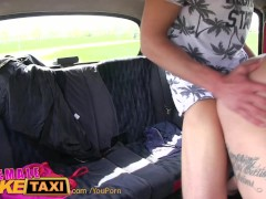 Picture FemaleFakeTaxi Busty czech driver gets a big...