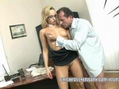 Picture Euro slut Aleska Diamond lifts her skirt to...
