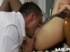 Picture Stockinged escort pussylicked and fucked