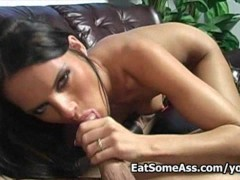 Picture Jennifer Dark blows huge cock and eats bungh...