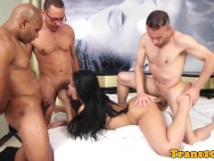 Picture Latin bukkake tgirl with big ass groupfucked