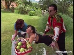 Picture Carmen Enjoys Sex in the Garden