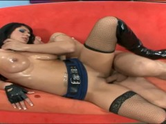 Picture Kitty fucked in black stockings and latex bo...
