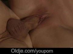 Picture Shy grandpa gets his old cock sucked by a bu...
