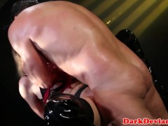 Picture Roped button slut Lyra Louvel roughly rammed