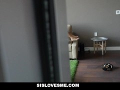 Picture SisLovesMe - Step-Sis Finds My Hidden Cam an...