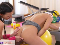 Picture FitnessRooms Amazing asses on show before le...