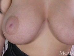 Picture MOM Big natural tits babe face sitting on ol...