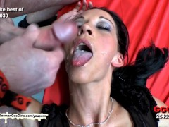 Picture Bukkake time with sexy skinny Aymie - German...