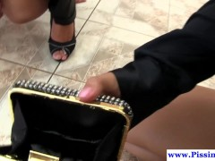 Picture Pissing euro les soaking glambabes with pee