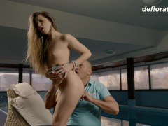Picture Virgin Nikita gets a dick for the first time