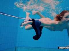 Picture Young Girl 18+ girl Avenna is swimming in th...