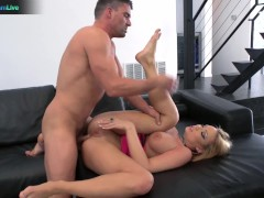 Picture Busty blonde Maya Hills tasted Toni Ribas hu...