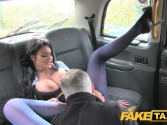 Picture Fake Taxi Big tits long hair and high heels