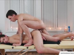 Picture Horny Gay Lovers Enjoy Sex Massage