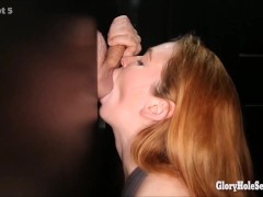 Picture 4 different gloryhole girls in the gloryhole...