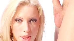 Sexy Blonde Cumshot
