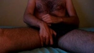 Italian Hairy Bear is Jerking Off