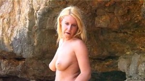 Sexy Sonia Strips by the Sea