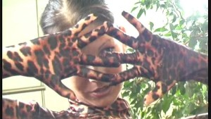 Sweet Susi in leopard catsuit