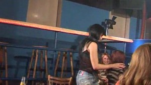 Girlfriend sucking a strippers cock on stage