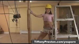 Busty contractor get facial part1of2