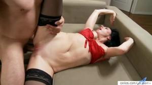 Horny Amateur Cougar Sucking