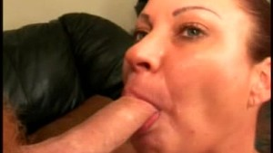 This horny mature eats cock like crazey amateur