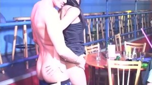 Male Stripper fucking a girl from the crowed