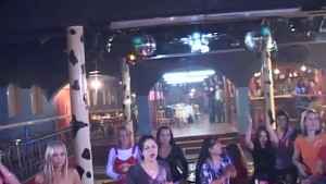 Male Strippers get their cocks sucked in public