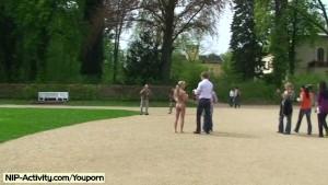 Lenja - Hot German Babe Nude In Public Streets